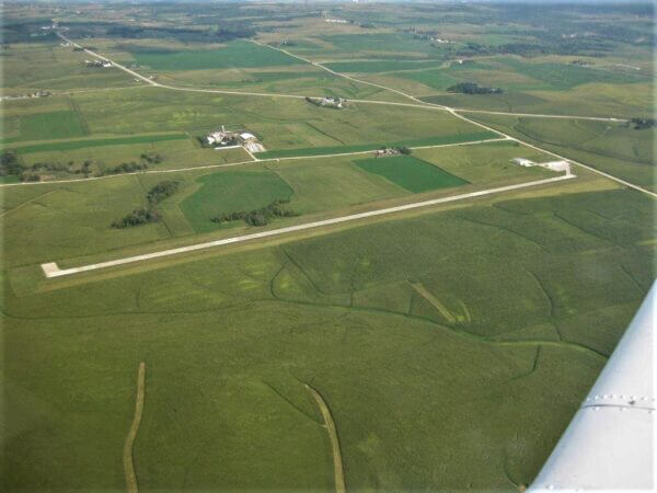 West Union Airport Aerial View